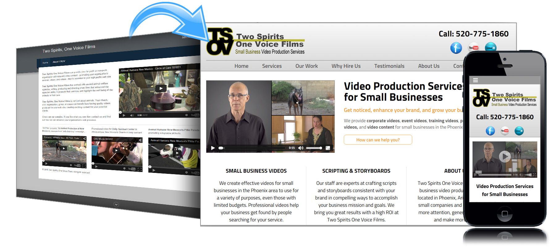 Before and After Website for Two Spirits One Voice Films